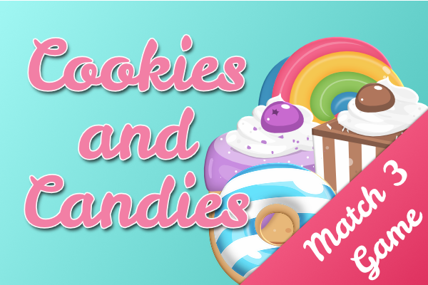 Cookies and Candies - Delicious match 3 game Image